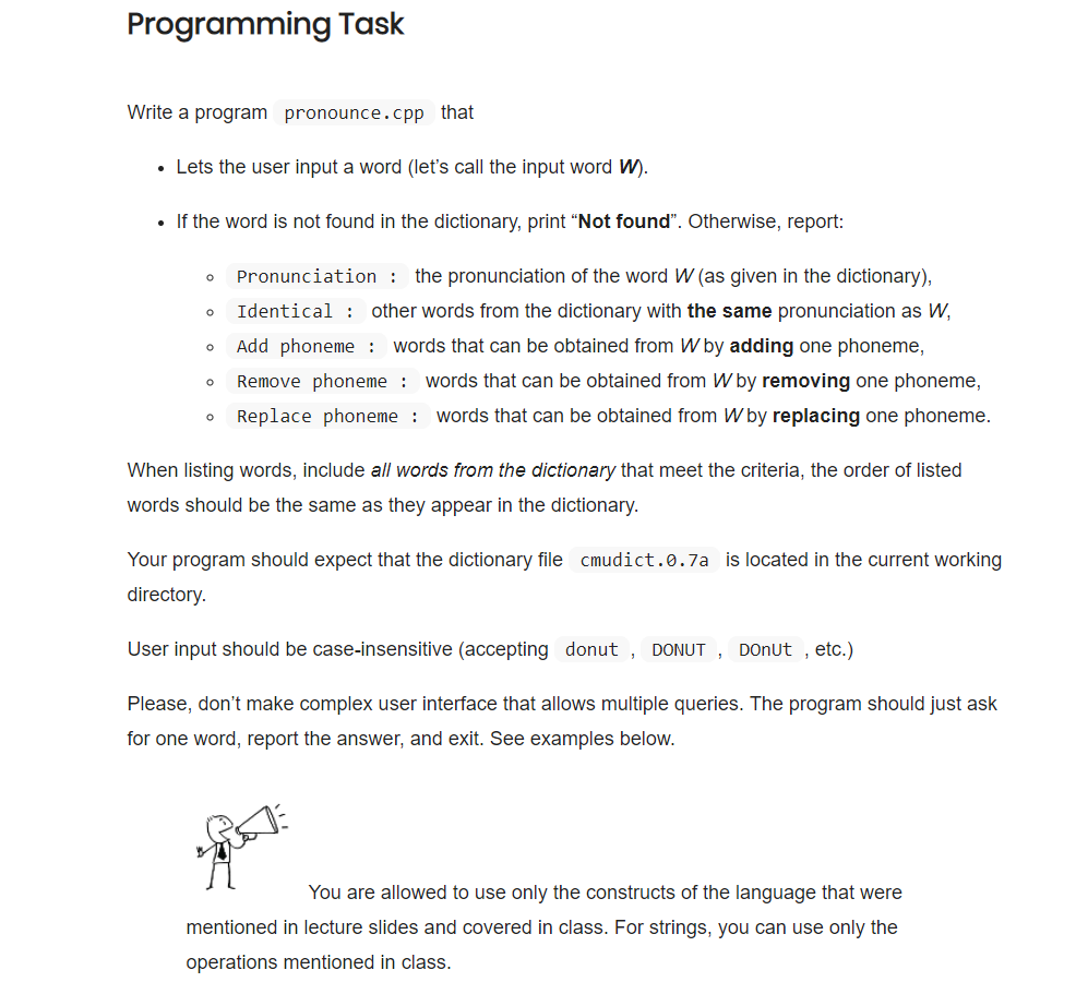 Programming Task Write A Program Pronounce cpp Tha