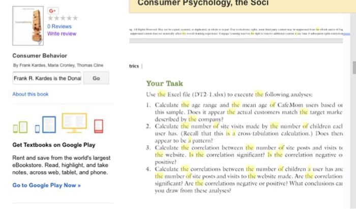 Consumer Psychology, The SocI 0 Reviews Write Revi    | Chegg com
