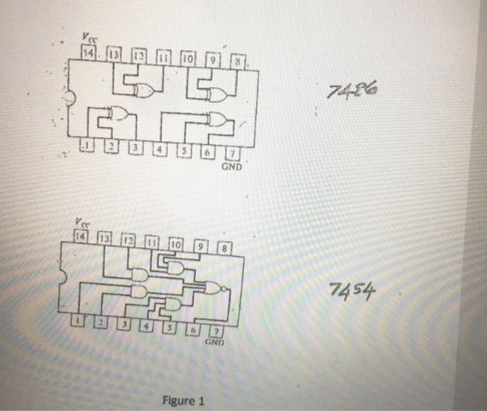 Solved 1 The Pin Diagrams Of The Ic Chips 7486 Quad 2 I