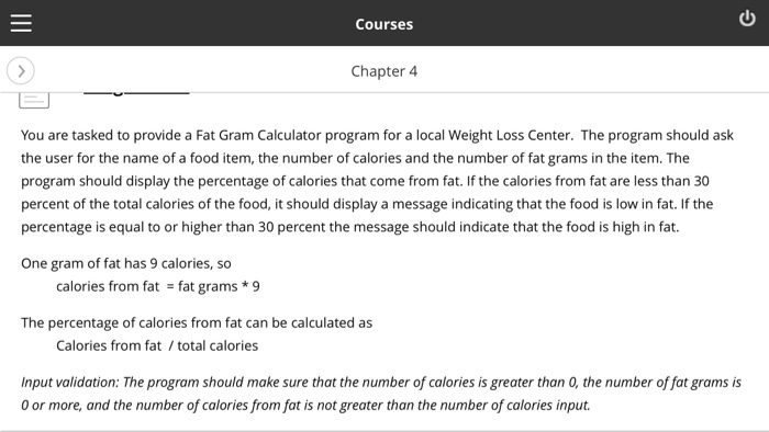 Solved Courses Chapter 4 You Are Tasked To Provide A Fat