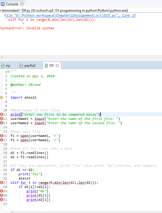 Solved: In Python: Create A Program Called Dif  This Progr