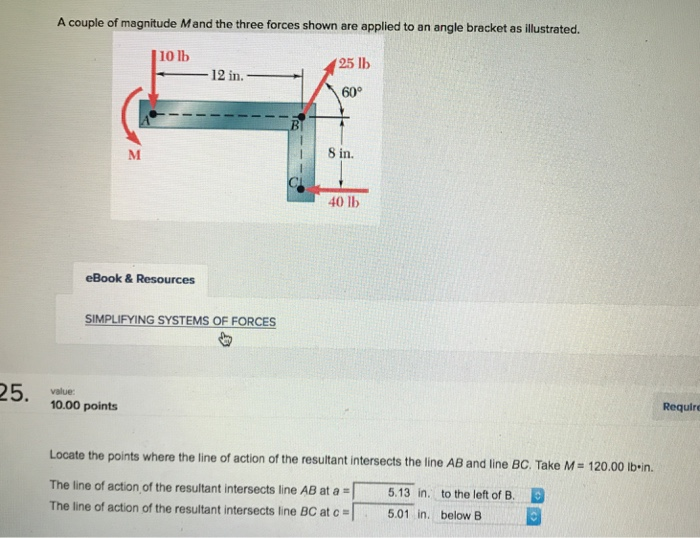 Mechanical engineering archive october 18 2017 chegg a couple of magnitude mand the three forces shown are applied to an angle bracket as fandeluxe Image collections