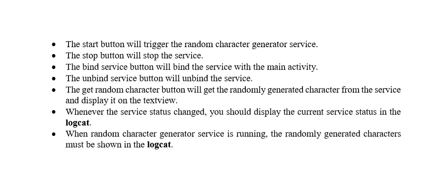 The Start Button Will Trigger The Random Character