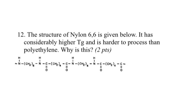 Solved: 12  The Structure Of Nylon 6,6 Is Given Below  It