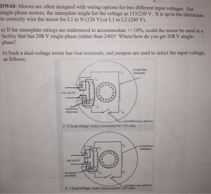 Solved: Hw68: Motors Are Often Designed With Wiring Option ...