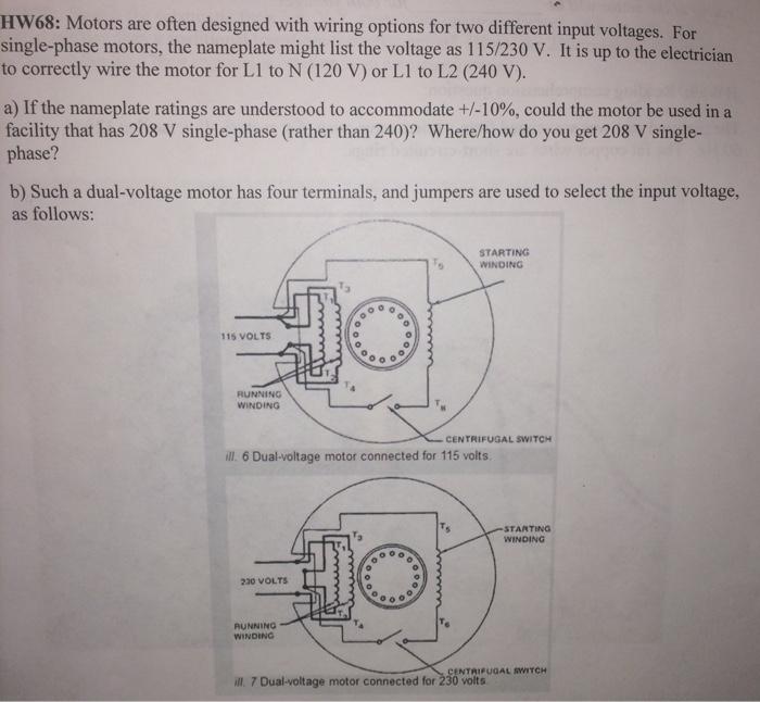 Exelent Dual Voltage Single Phase Motor Wiring Diagram Vignette ...