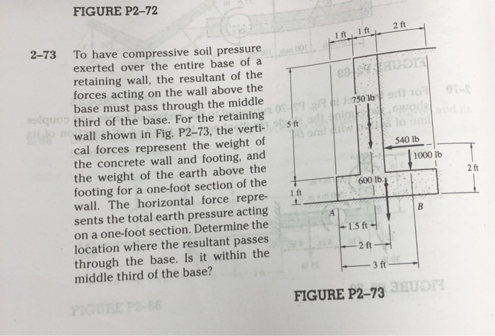 Figure P2 72 2 Ft To Have Compressive Soil Pressure Exerted Over The Entire Base