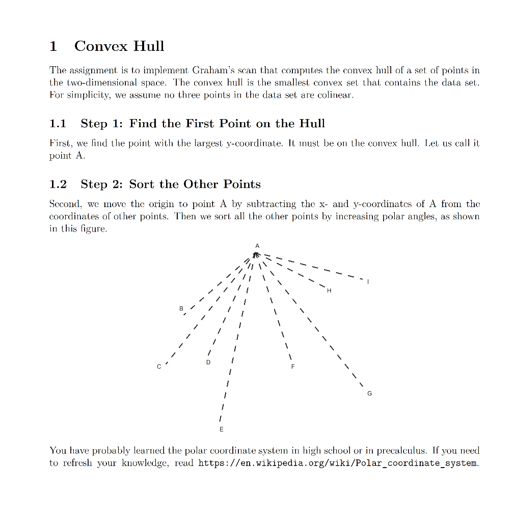 1 Convex Hull (in C Code) Code Given: Main c : ___