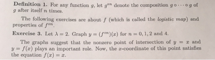 Solved: Definition 1  For Any Function G, Let Gon G After