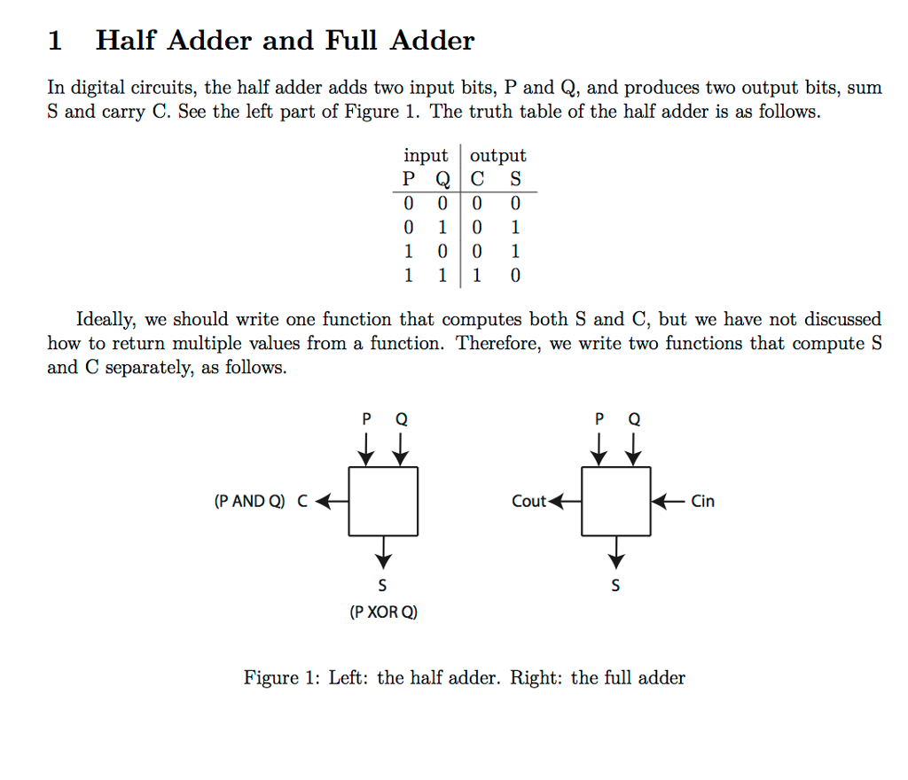 Half Adder And Fuller In C Please Follow The Circuit Diagram For 1 Halfadder Full Digital Circuits Adds Two Input Bits