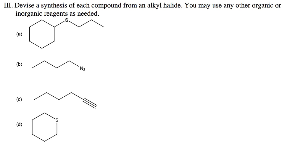 synthesis of alkyl halide 1 chapter 7 alkenes and alkynes i: properties and synthesis elimination reactions of alkyl halides the cahn-ingold-prelog convention is used to assign the groups of highest.