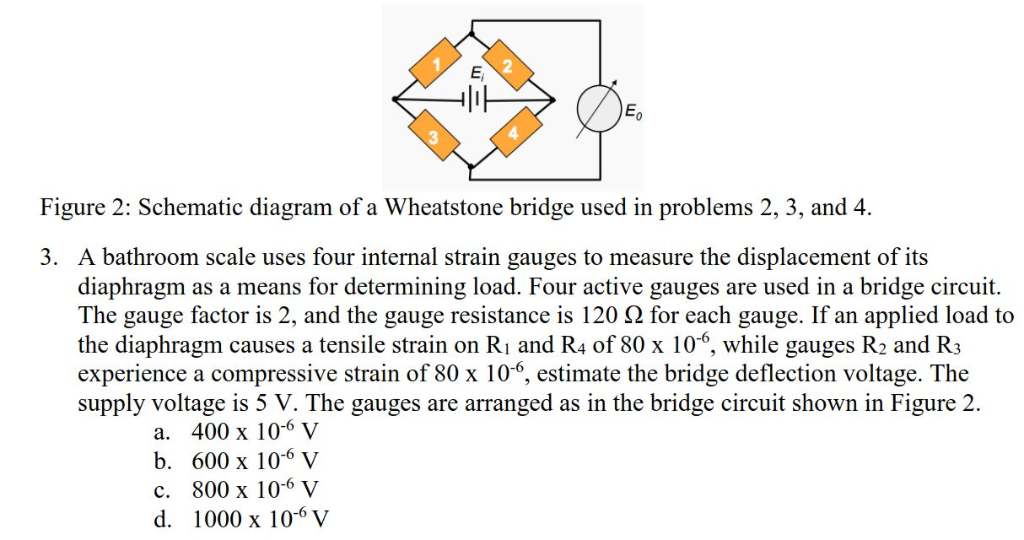 Surprising Solved 2 E 3 Figure 2 Schematic Diagram Of A Wheatstone Wiring 101 Cajosaxxcnl