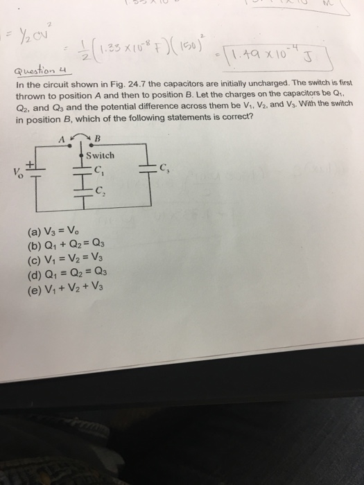 Solved: In The Circuit Shown In Fig. 24.7 The Capacitors A ...