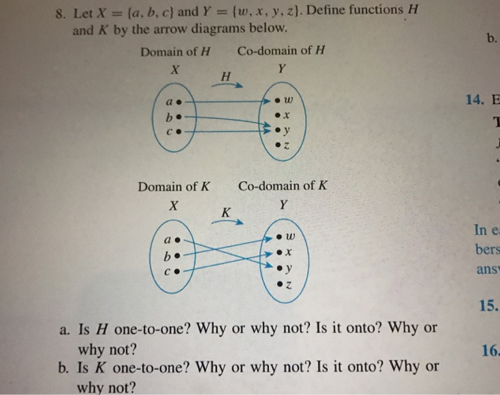 Solved 8 Let X A B C And Y W X Y Z Define Funct