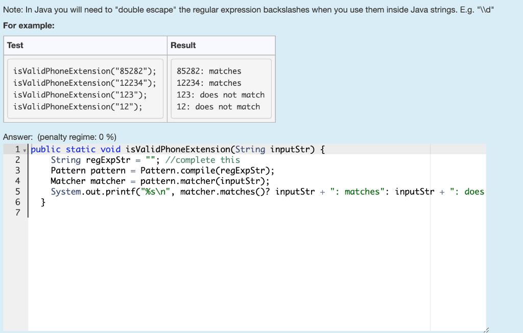 Solved Complete The Static Method Named Isvalidphoneexten