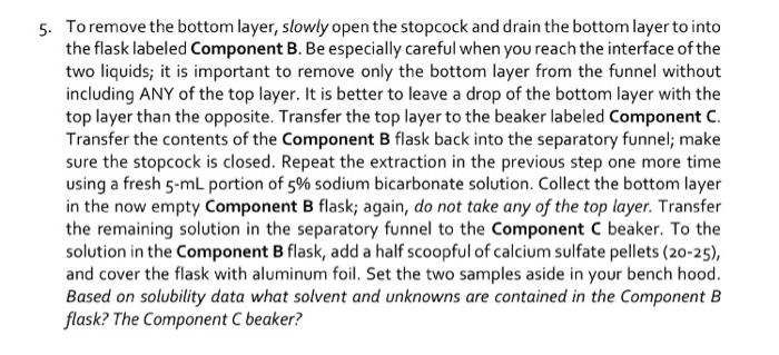 Solved: Why Is Acetone Used To Rinse The Original Beaker A