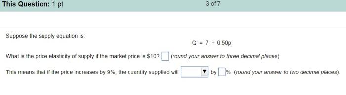 elasticity of supply equation
