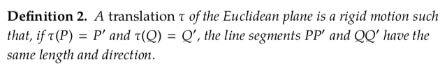 Solved: Definition 2  A Translation τ Of The Euclidean Pla