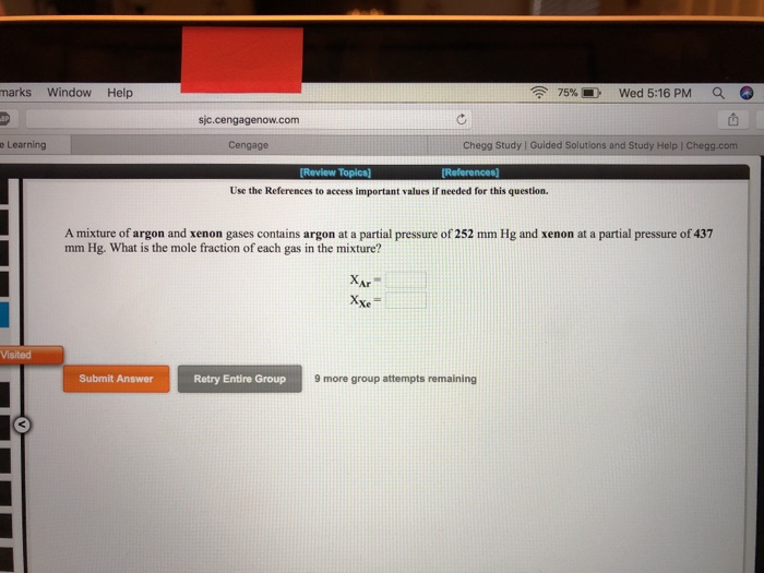 Solved: Marks Window Help 75%, -Wed 5:16 PM A Sic cengagen