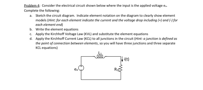 solved problem 4 consider the electrical circuit shown b rh chegg com All Circuit Symbols Circuit Diagram Symbols