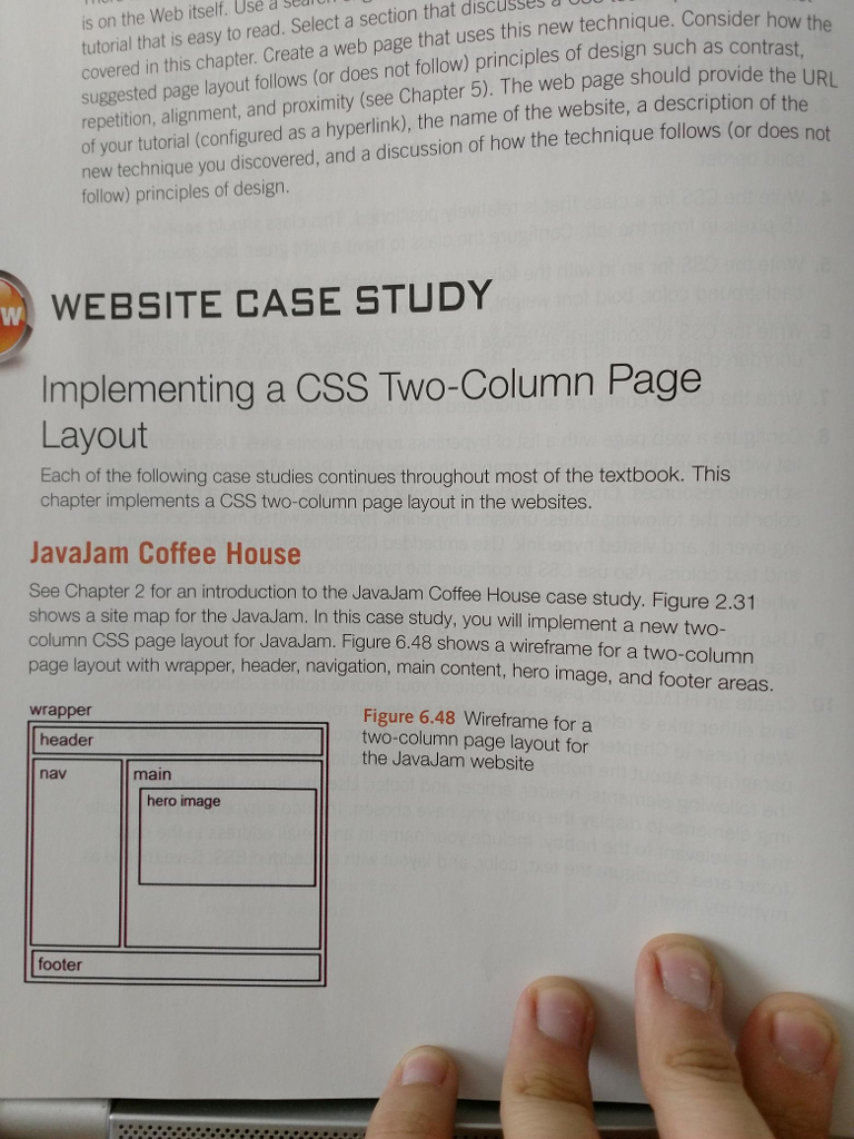 Solved Chapter 6 Javajam Casestudy 9th Edition Web Develo Chegg Com