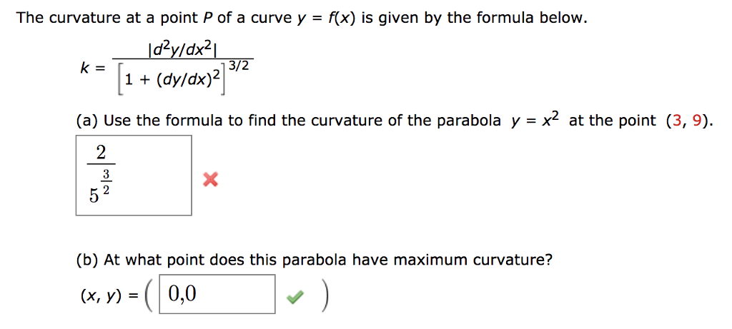Solved: The Curvature At A Point P Of A Curve Y - F(x) Is