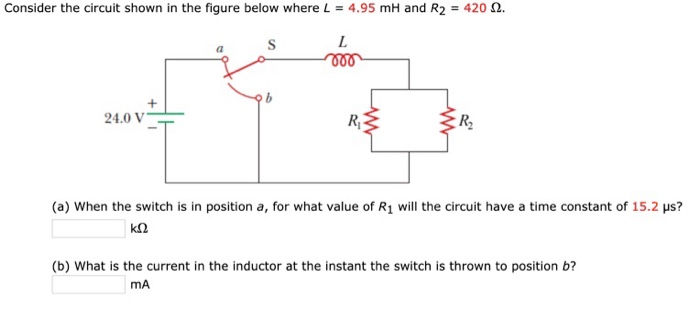 Solved: Consider The Circuit Shown In The Figure Below Whe ...