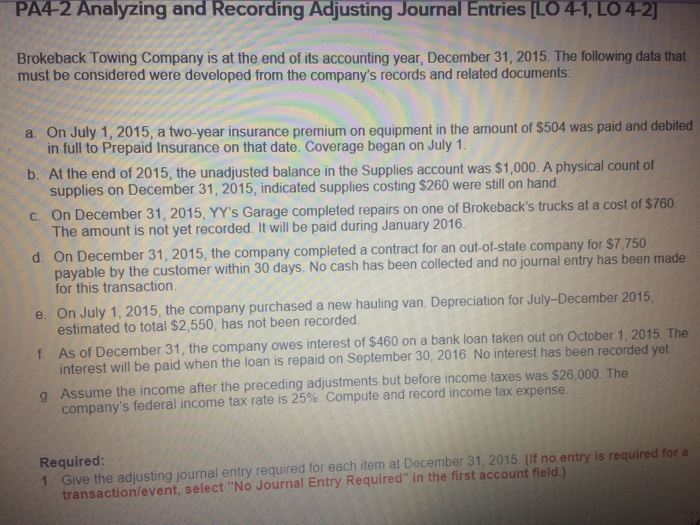 Accounting archive october 04 2017 chegg pa4 2 analyzing and recording adjusting journal entries lo 4 1 lo fandeluxe Images