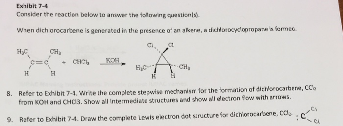 exhibit 7-4 consider the reaction below to answer the following question(s)