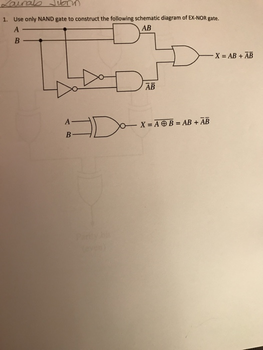 solved 1 use only nand gate to construct the following s PCM Circuit Diagram