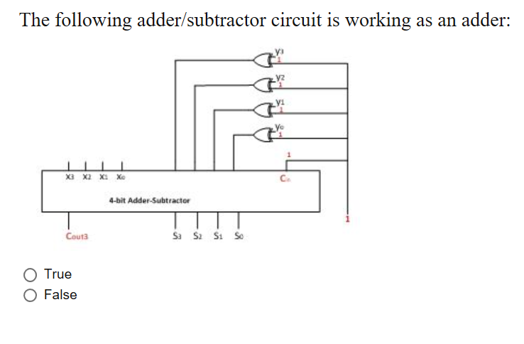 Solved The Following Adder Subtractor Circuit Is Working