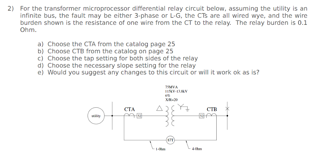 2) For The Transformer Microprocessor Differential