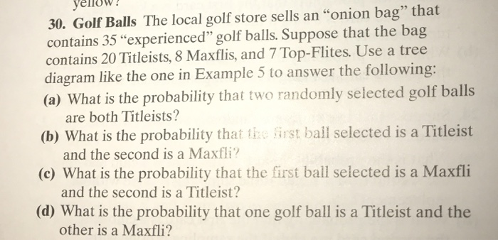 016728f9d6e3 Golf Balls The local golf store sells an