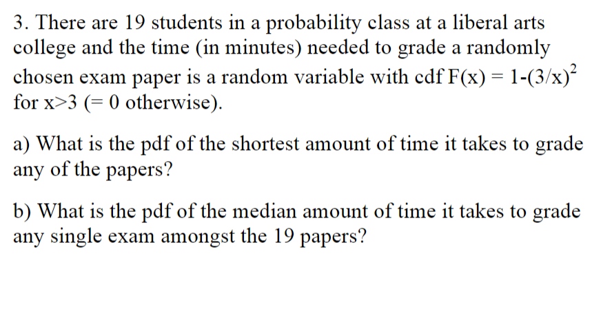 Solved: 3  There Are 19 Students In A Probability Class At
