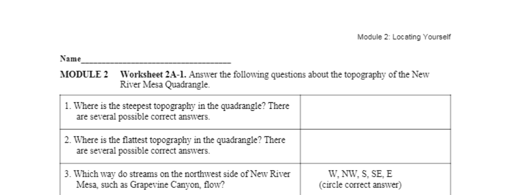 Solved: Module Name MODULE 2 Worksheet 2A-1. Answer The Fo ...