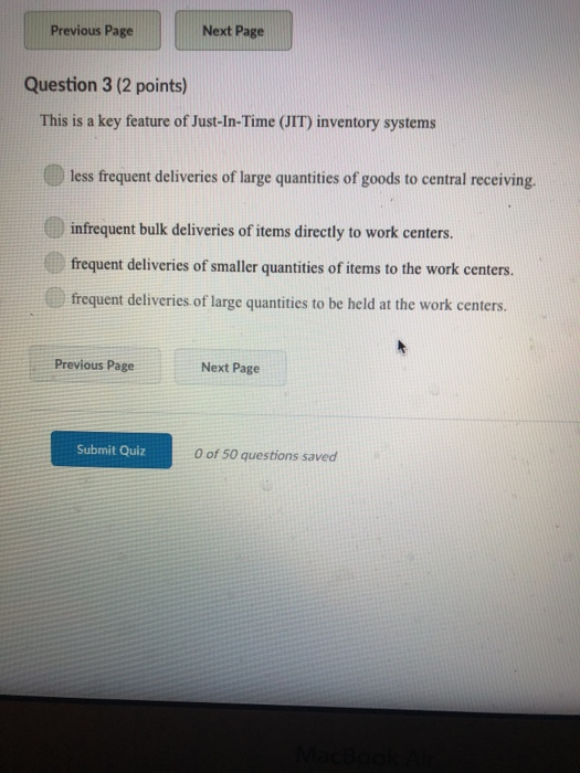 Solved: Question 2 (2 Points) A Company Should Conduct A F