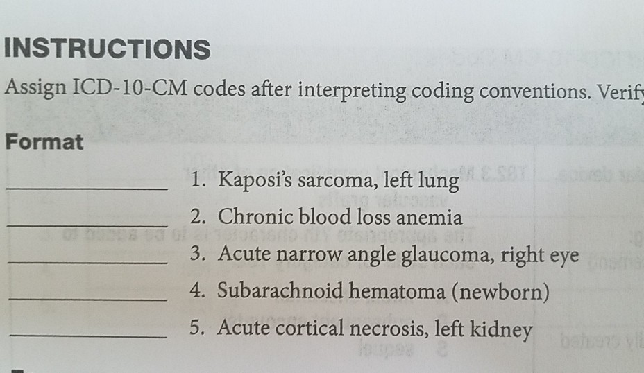 Solved: INSTRUCTIONS Assign ICD-10-CM Codes After Interpre