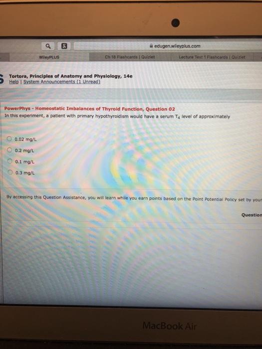 Solved: Q困 Edugen.wileyplus.com WileyPLUS Ch 18 Flashcard ...
