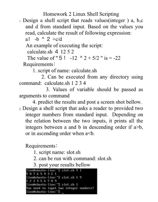 Solved: Homework 2 Linux Shell Scripting   Design A Shell