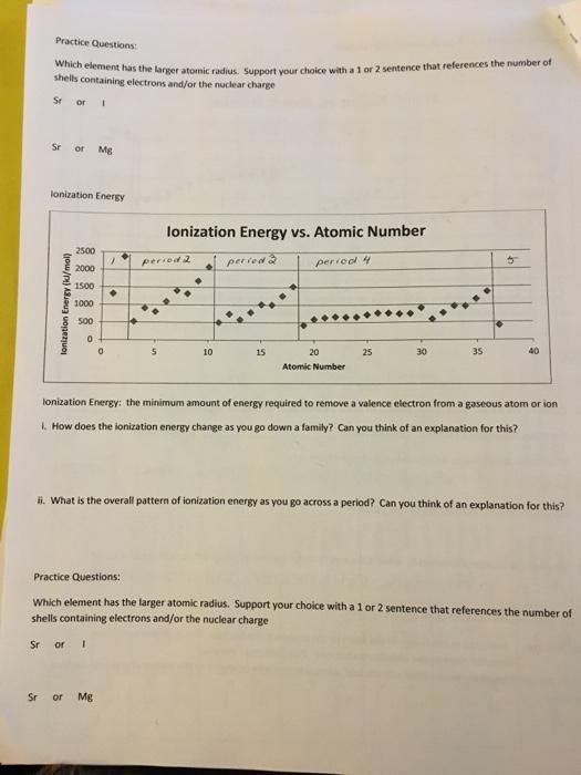 Solved: Kequired Homework 2 - Periodic Properties Workshee ...