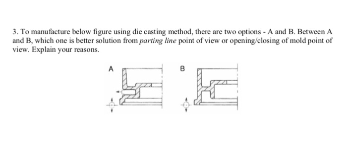 Solved: 3  To Manufacture Below Figure Using Die Casting M