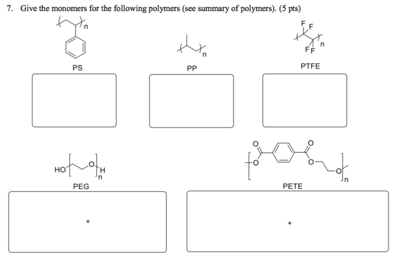 Ps Monomer Diagram | Wiring Diagram