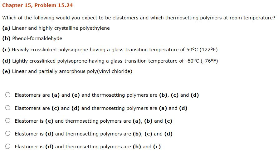 Solved: Please Choose The Correct Answer To This Materials