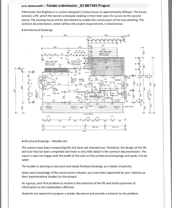 LI Oeecuon Tender Submission S3 BET403 Project 9 M