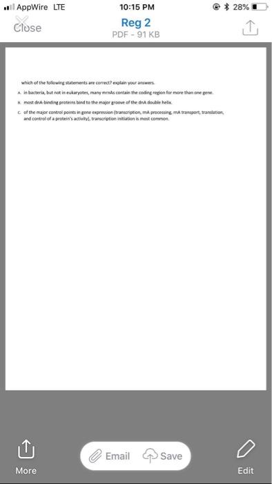 Solved: L AppWire LTE @*28% í 10:15 PM Reg 2 PDF-91 KB Clo