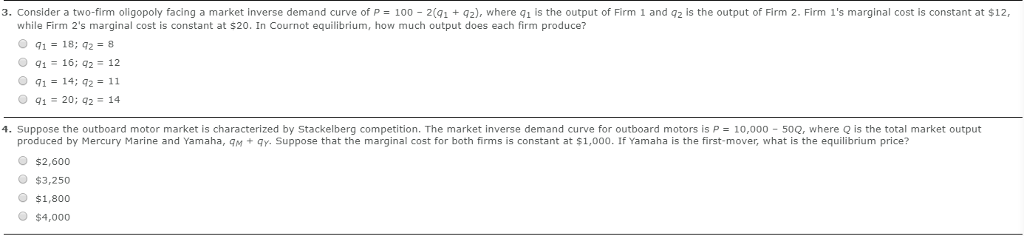Solved: 3  Consider A Two-firm Oligopoly Facing A Market I