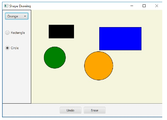Drawing Shapes In Javafx