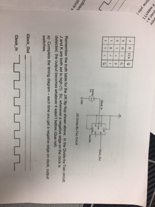solved clock out j  k divide by two circuit remember the t