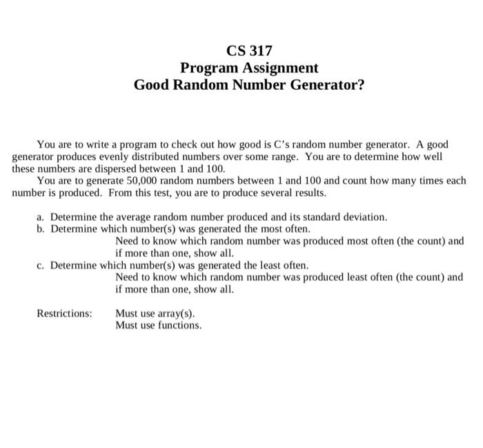 random number generator in c++ array