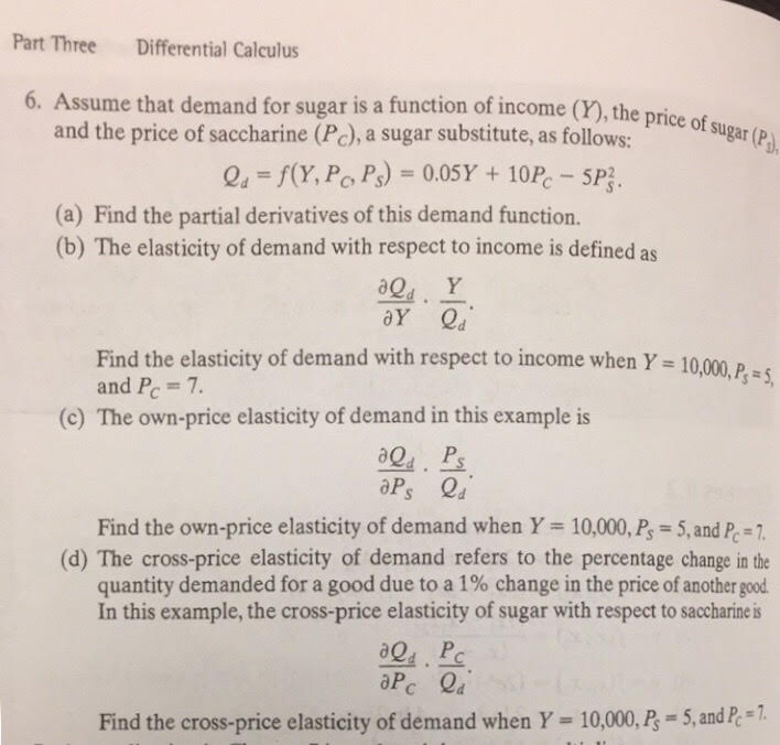 Solved Part Three Differential Calculus 6 Assume That De